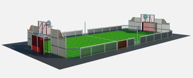 terrain multisport par casal sport fabricant de city stade. Black Bedroom Furniture Sets. Home Design Ideas